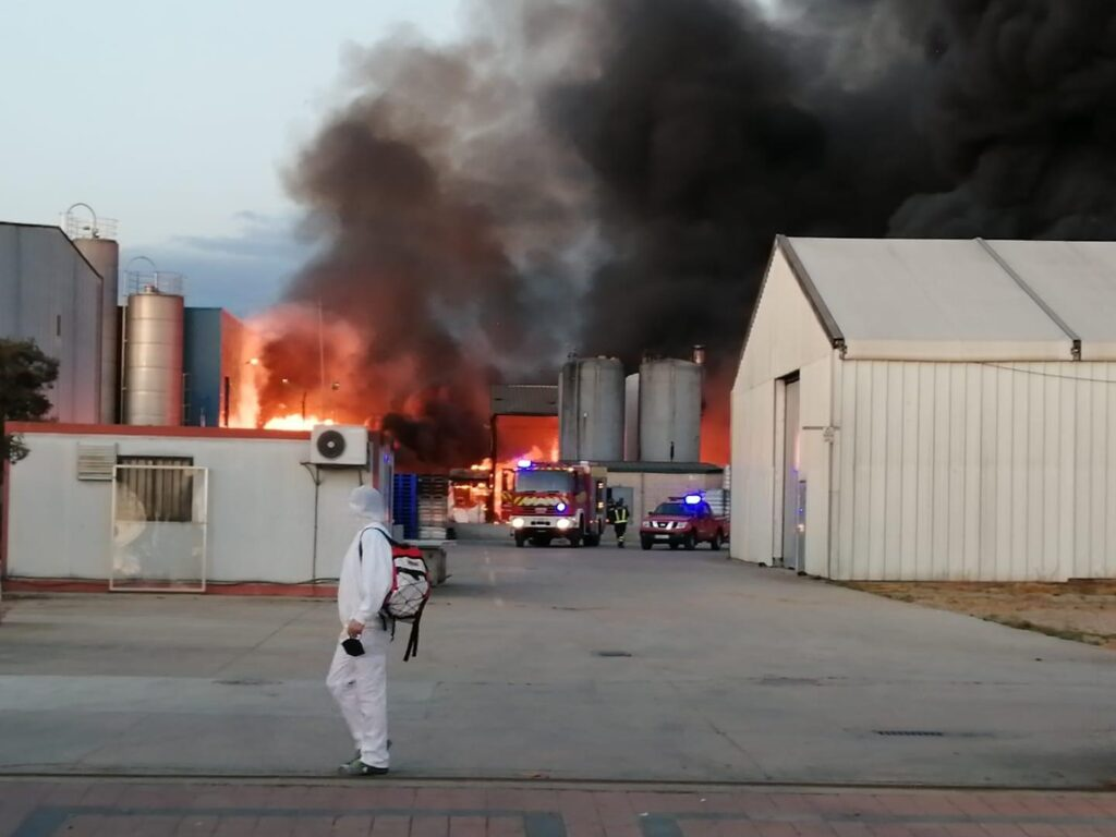 incendio en Venta de Baños