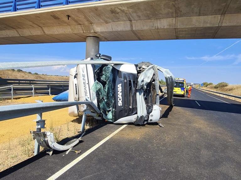 accidente camión A67 santa cruz de boedo