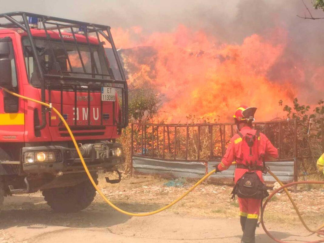Incendio en Ávila UME